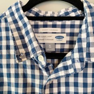 Old Navy Gingham Plaid Long Sleeve Button Down
